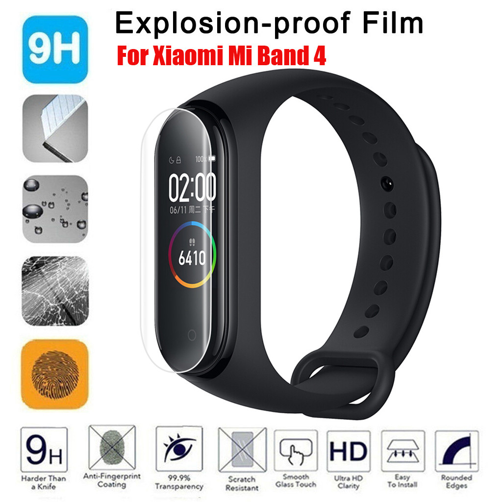 Explosion-proof Film For Xiomi Xaomi Mi Band 4 Band4 Screen Protector Soft Full Coverage Protect Film Bubble Free Anti-Scratch