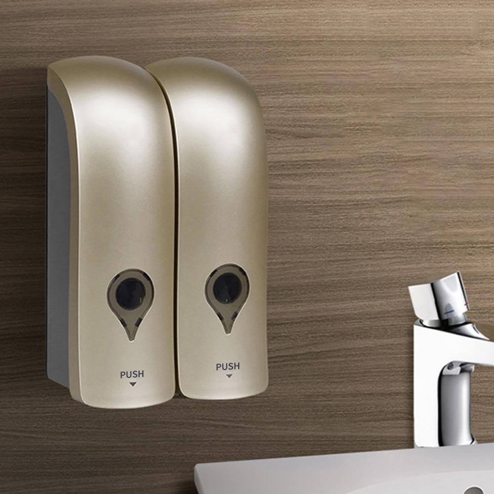 H679f8b356e384e9285cd70531dcebbf6m Wall Mounted Single Head Wall Soap Dispenser Shower Gel Liquid Shampoo Disinfectant Dispenser Holder 300 ML For Hotel Home