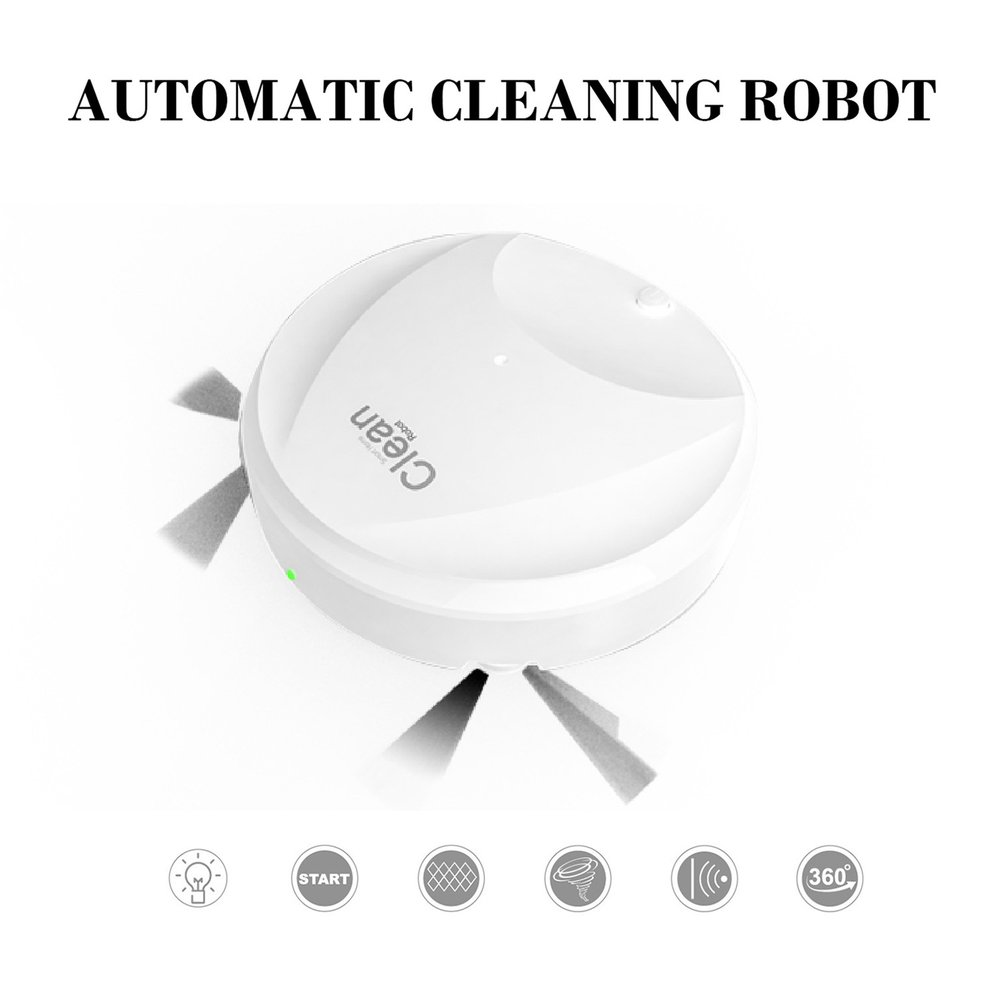 Cleaning-Device Vacuum-Cleaner Floor-Robot Smart Mop 3-In-1ultra Microfiber Usb-Charging title=
