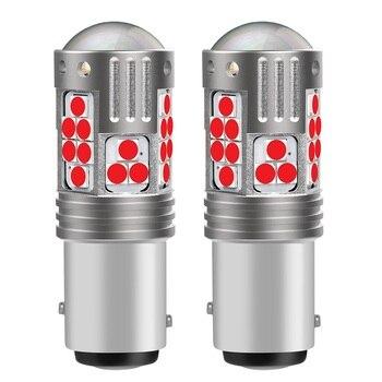 2 bombillas LED de freno para coche BAY15D P21/5W superbrillantes, señales de giro, luces de estacionamiento para automóviles, luces de circulación diurna, rojo, blanco y amarillo, 1157