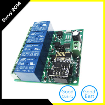 ESP8266 4CH 12V WiFi Relay Module Smart Home Mobile APP Remote Control Switch diy electronics 5v esp8266 dual wifi relay module internet of things smart home mobile app remote switch