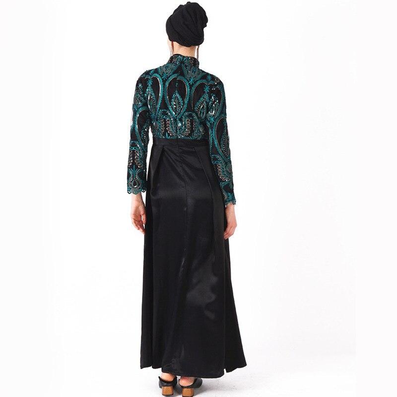 Robe musulmane Abaya femmes du moyen-orient brodé paillettes Robe de soirée Maxi Robe Abaya Robe émirats arabes unis dubaï saoudien Eid - 3