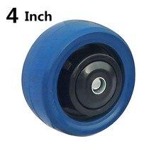 1 шт. 4 дюйма для тяжелых условий эксплуатации резиновое колесо заклинателя цельного куска износостойкий плоский драйвер тележка