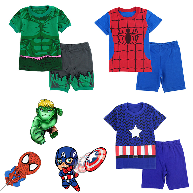 font-b-marvel-b-font-cotton-spider-man-captain-america-hulk-pajamas-cartoon-fashion-t-shirt-pajamas-pajamas-home-service-set