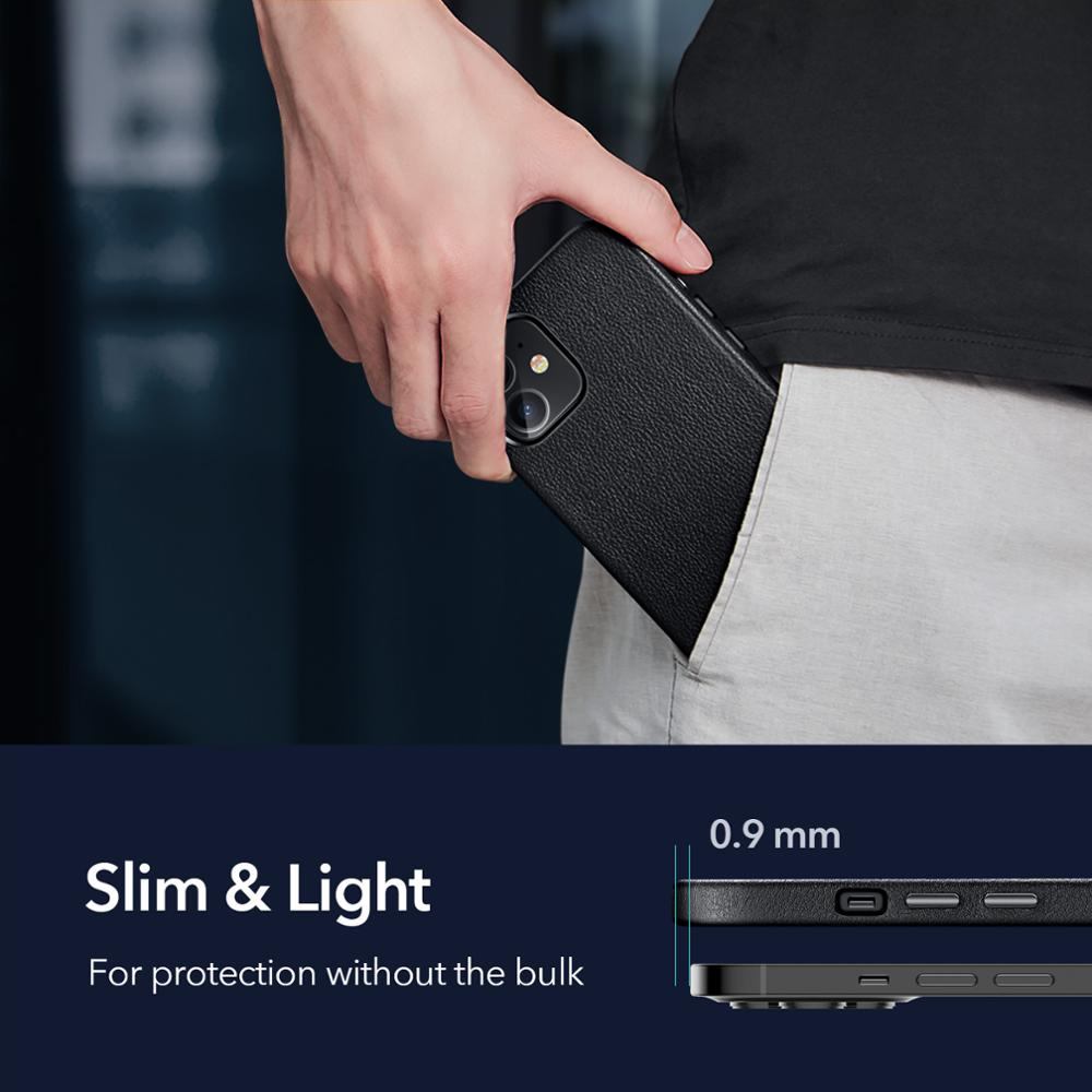 Esr Luxe Case Voor Iphone 12 Lederen Back Cover Voor Iphone 12 Mini 12 Pro Max Echt Lederen Business Case voor Iphone 12 2