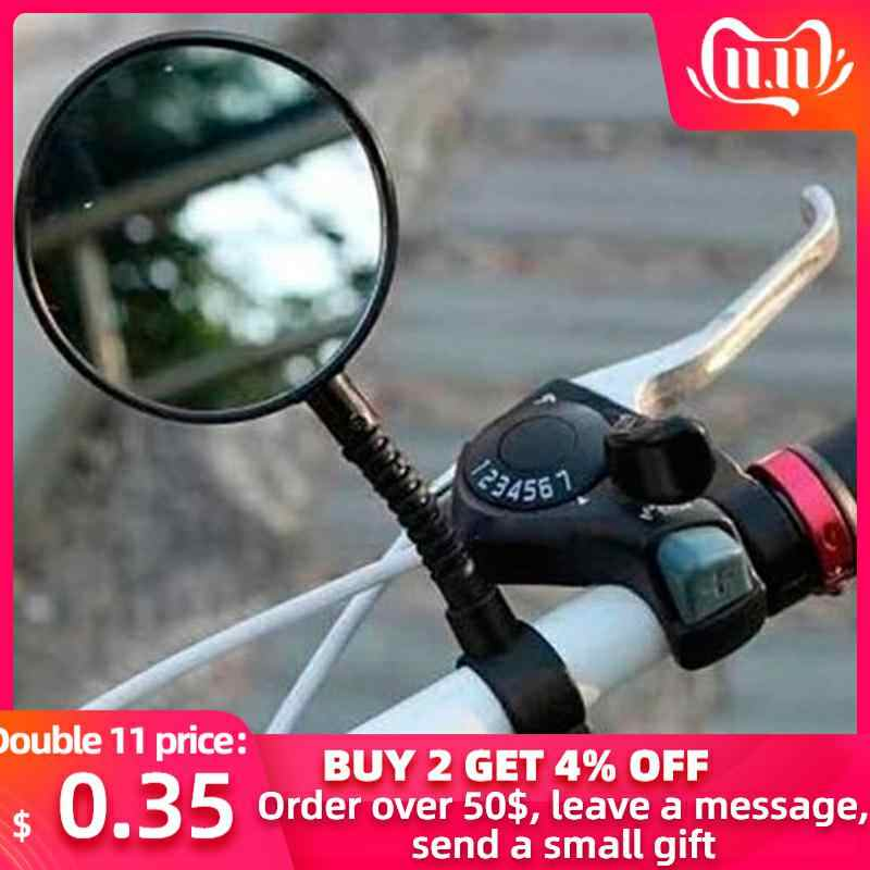 Bicycle Mirror Outdoor&Sport Quality Bike Bicycle Handlebar Flexible Rear Back View Rearview Mirror Black Bike Accessories