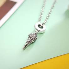 charm icecream dazzling CZ pendant 925 Sterling silver for original Pandora bracelet luxury brand Necklace DIY jewelry