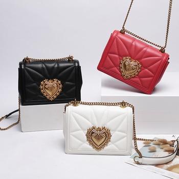 Fashion Famous Brand Small Shoulder Bags Women Genuine Leather Ladies  Messenger Bag Multifunction Crossbody Bag