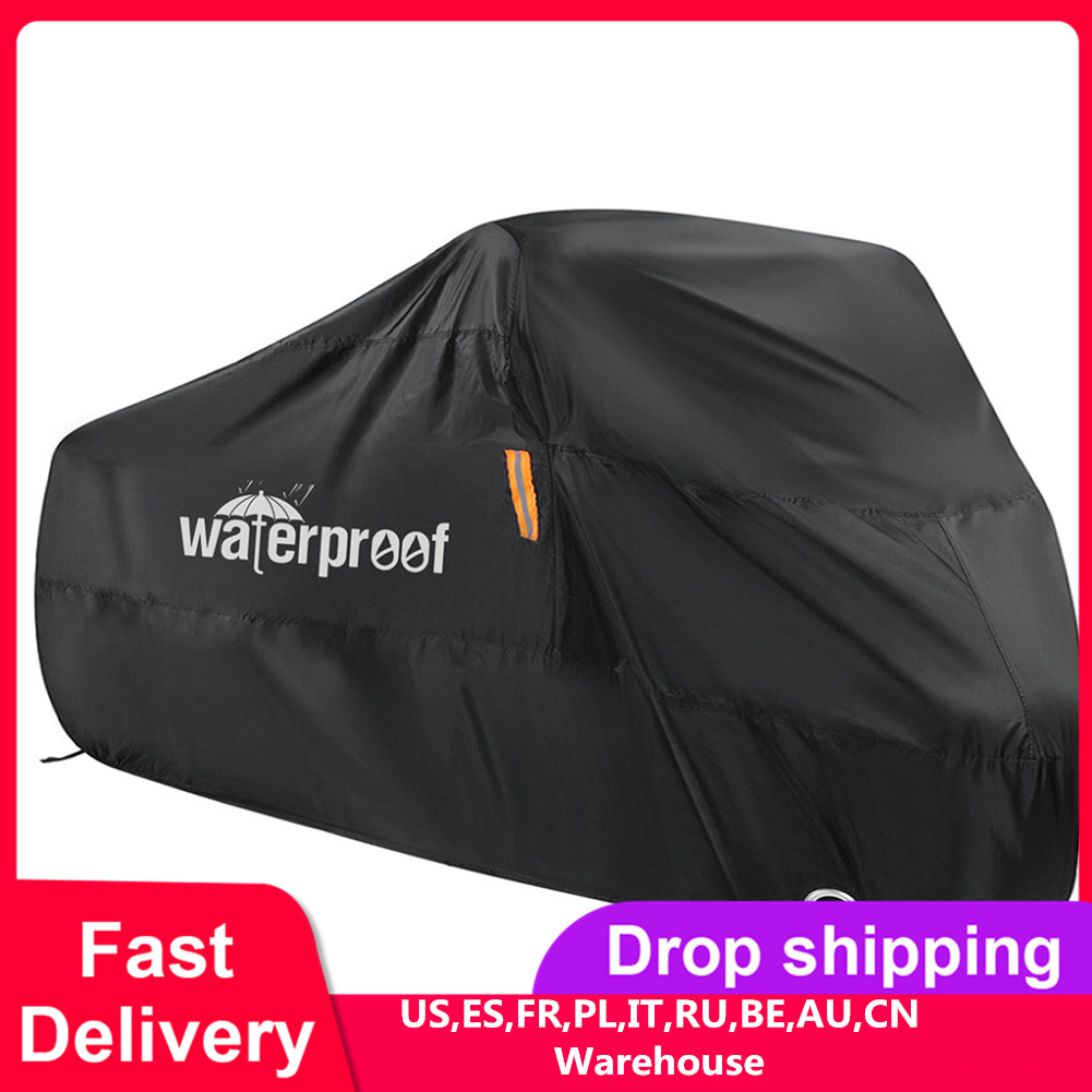Motorcycle Bike Cover Waterproof For Scooter Outdoor UV Protector Rain Dust