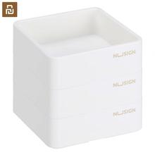 Youpin Nusign do układania w stos pudełka do przechowywania trzy ładowane kwadratowe małe teczka na dokumenty teczka na dokumenty wielofunkcyjny pojemnik na dokumenty do biura uczeń tanie tanio Z tworzywa sztucznego Nusign Stackable Storage Boxes Papeteria posiadacze