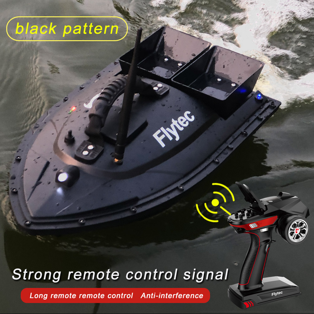 Flytec V500 5.4km/h Fishing Bait RC Boat 500M Remote Control Fishing Ship Boats Brush Double Motor Outdoor RC Boat for Kids Toys image