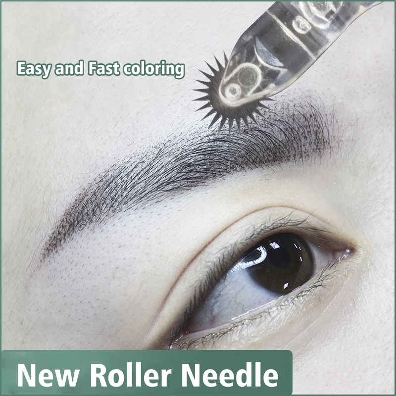 Biomaser New Easy Coloring Roller Pin Microblading Needles Tattoo Eyebrow Fog Embroidery For Permanent Makeup Micro Manual Pens
