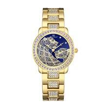 Часы женские кварцевые с двойным наконечником золотистые водонепроницаемые