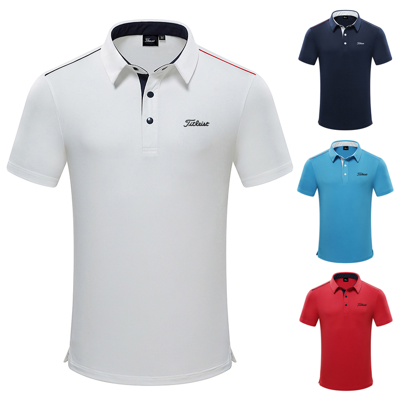 2021 Golf clothing men's short sleeve summer new quick drying polo shirt breathable summer golf wear