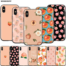 Webbedepp Peaches Case for Apple iPhone 11 Pro XS Max XR X 8 7 6 6S Plus 5 5S SE(China)