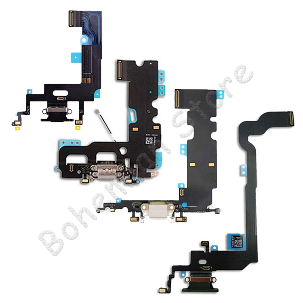 High Quality USB Charger Port Dock Flex Cable For <font><b>iPhone</b></font> X Xs Max XR 7 <font><b>8</b></font> Plus Charging <font><b>Connector</b></font> PCB Flex With Mic Phone Part image