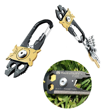 Outdoor 20-in-one Multifunctional Combination Tool EDC Portable Gadgets Keychain