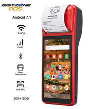 ISSYZONEPOS imprimante portable, Terminal de POS, avec scanner de codes barres 1D, PDA 4G, WiFi, avec caméra de caisse, pour commande mobile