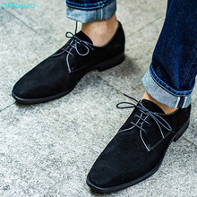 QYFCIOUFU Dress Shoes Men Genuine Leather Vintage Retro Black Brown Handmade Office Fashion Formal Wedding Party Oxford Shoes derby shoes men genuine leather luxury brand handmade vintage retro office formal party wedding dress shoes men