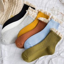 Japanese Harajuku Style Kawaii Woman Socks Cotton with Lace Spring Autumn Korean Funny Socks Women 121102