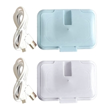 USB Baby Wipes Heater Thermal Warm Wet Towel Dispenser Napkin Heating Box Cover XX9F
