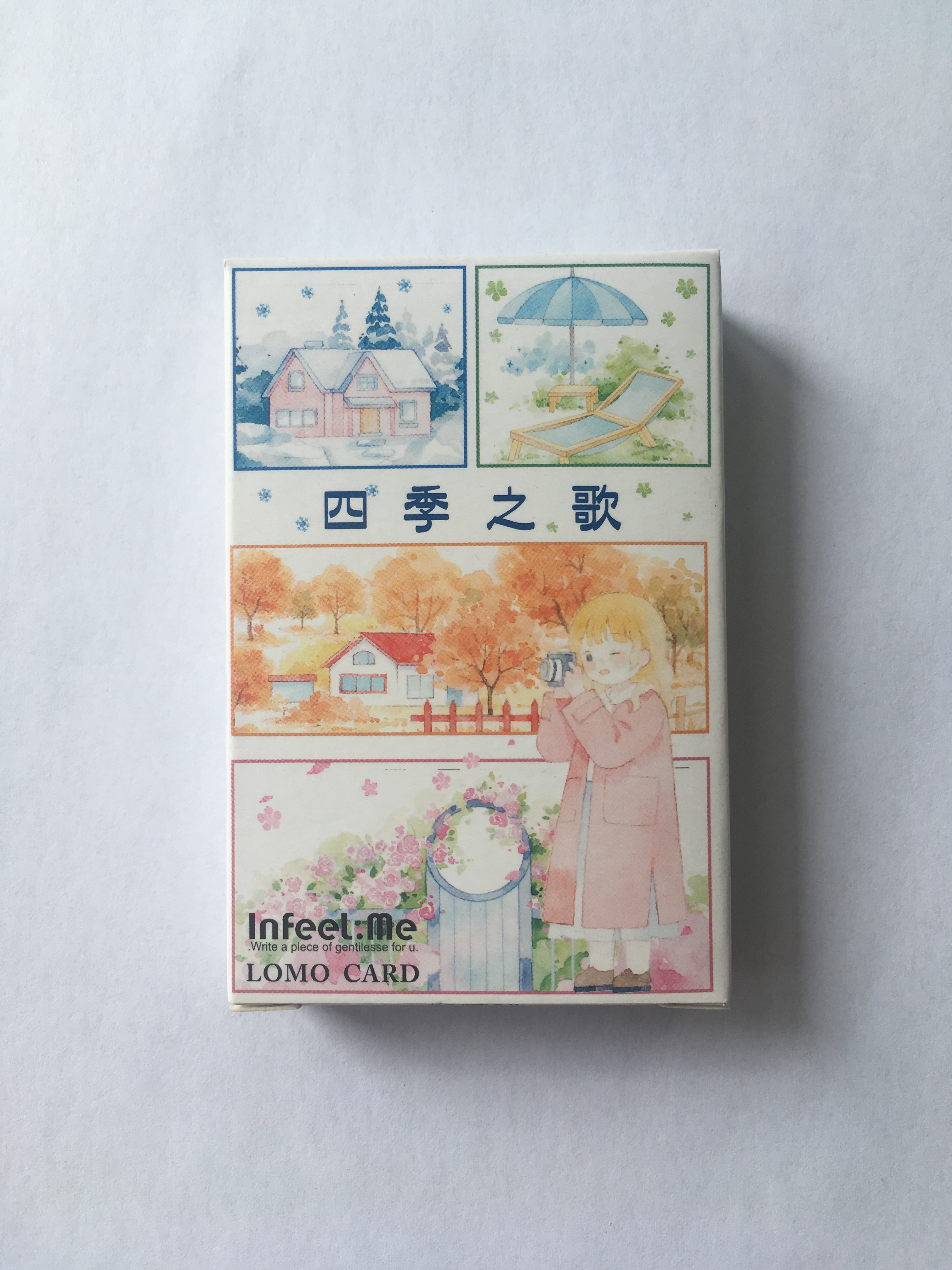 52mm*80mm Four Seasons Song Paper Greeting Card Lomo Card(1pack=28pieces)