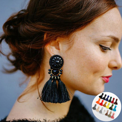 Spaloria Vintage Fringe Tassel Earrings Female Statement Jewelry For Women Fashion Bohemia Big Long Drop Dangle Earings Brincos