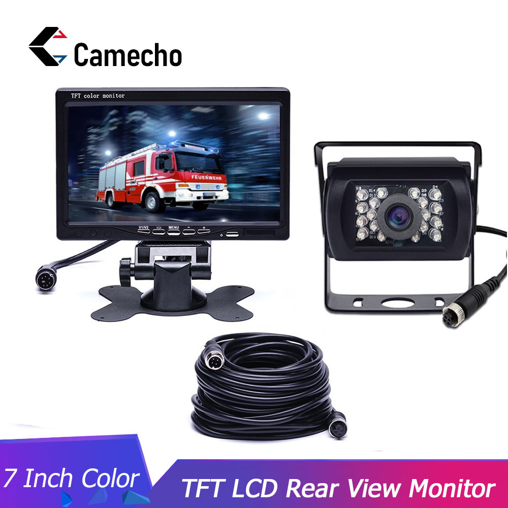 Camecho CAR HD 800x480 7 Inch Color TFT LCD Screen Rear View Display Monitor for Truck