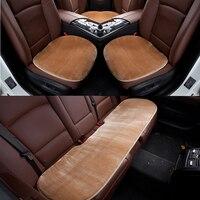 Capa de assento do carro da pele do falso quente universal inverno cadeira do assento da frente almofada do veículo auto protetor de assento de carro