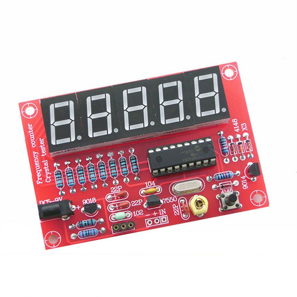 1Hz-50MHz Durable pequeño electrónico Fácil instalación módulo placa conversión automática DIY medidor de frecuencia Kit de medida de cristal