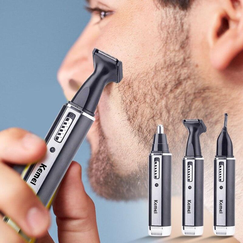 4 em 1 recarregável homem elétrico nariz orelha aparador de cabelo indolor mulheres aparar costeletas sobrancelhas barba cabelo clipper corte barbeador