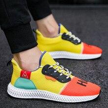 Осень, новинка, вразлёт, плетение, мужская обувь, воздухопроницаемые кроссовки, Корейская мужская повседневная трендовая сетчатая Вулканизированная обувь, 39-44