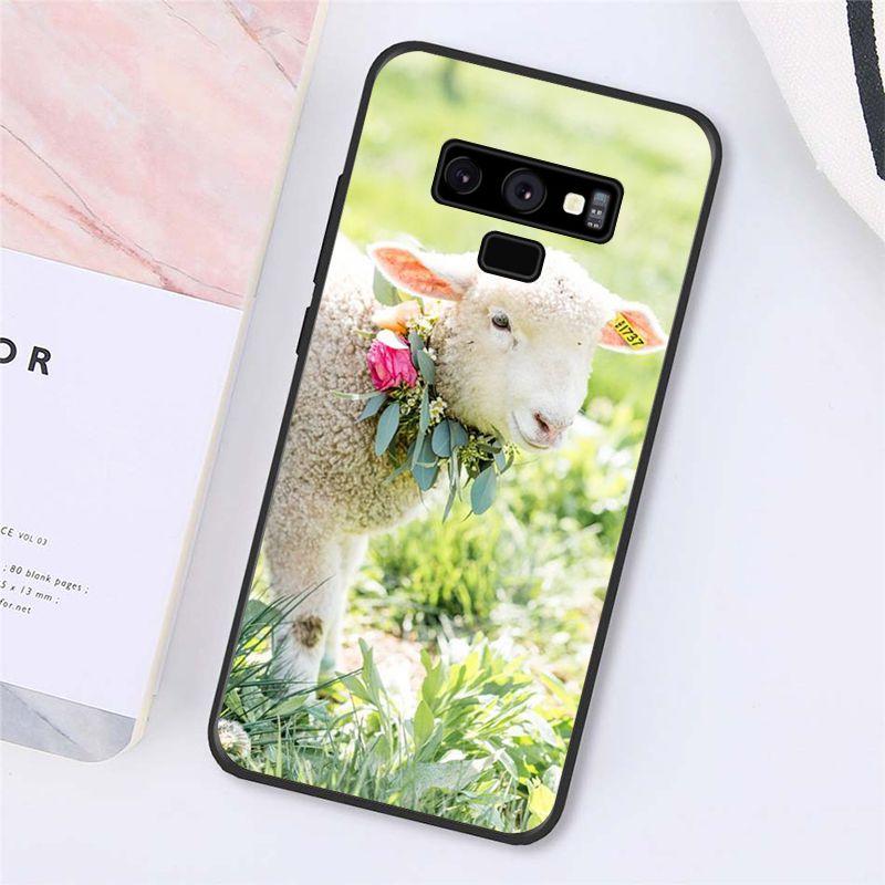 Adorable Spring Lamb Garden Wedding Sheep Phone Case For Samsung Galaxy A50 A70 A20 A30 Note9 8 Note7 Note10 Pro