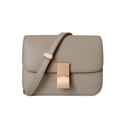 Genuine Leather Tofu Bags for Women High Quality Ladies Shoulder Bag Luxury Designer Messenger Bags Gray Blue Black Bolsos Mujer