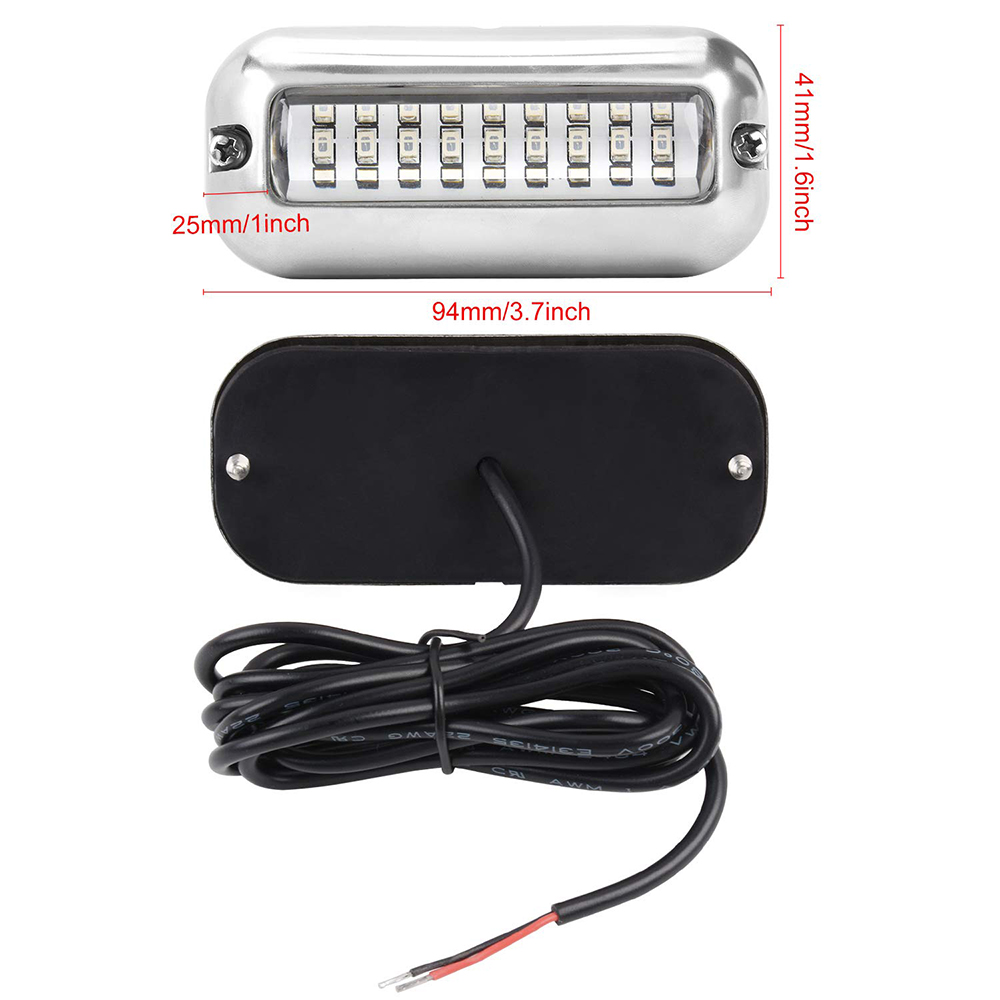 Submersible 27 Leds Boat Light IP68 Waterproof Underwater Marine Dock Fishing Night Light 12V Outdoor Led 3 Colors