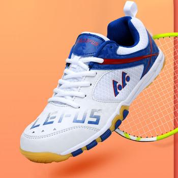 Buty do tenisa stołowego oddychające dla mężczyzn kobiety buty sportowe przeciwpoślizgowe amortyzacja kryty Sport trampki Badminton buty tenisowe tanie i dobre opinie TRY JADE CN (pochodzenie) oddychająca light ANTYPOŚLIZGOWE Mocne Support Pochłaniające pot Pochłaniające wstrząsy