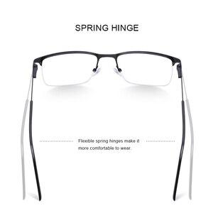 Image 3 - تصميم نظارات من ميريس للرجال بإطار من خليط معدني من التيتانيوم نظارات قصر النظر خفيفة بنصف مربع للرجال S2059