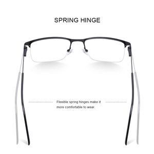 Image 3 - MERRYS DESIGN Men Titanium Alloy Glasses Frame Male Square Half Optical Ultralight Eye Myopia Prescription Eyeglasses S2059