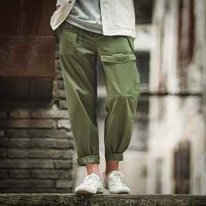 Image 4 - Maden Retro Military Style Loose p37 Military Pants Classic Straight Big Pocket Casual Pants Male
