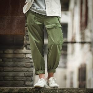 Image 4 - Pantalones militares holgados estilo militar Retro Maden p37 clásico recto Bolsillo grande pantalones casuales hombre