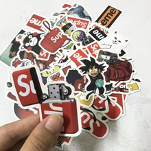 50pcs Fashion Stickers logo sticker Scrapbooking Papelaria Not Repeating Tide Brand Skateboard Phone Sticker Flakes TZ129 0D
