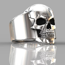 HNSP Punk skull ring for men male 7-14 big size Biker Jewelry hnsp big devil skull ring for men punk jewelry male finger gift anel