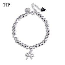 Ethnic Minimalist Charm Bracelets Women Bead Chain Bowknot Dainty Thin Bow Bracelet Jewelry Female Girl Cute