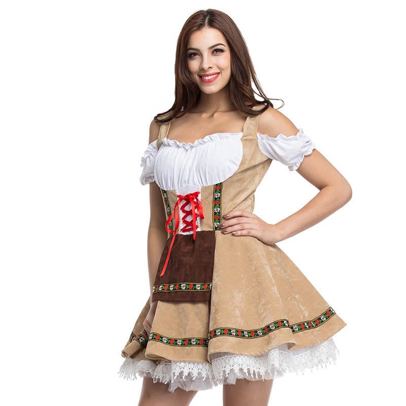 Ladies Oktoberfest Costume Bavarian German Octoberfest Beer Womens Fancy Dress