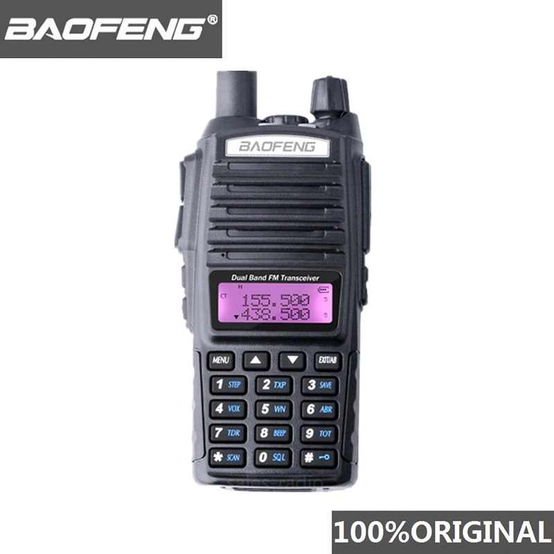 100% Baofeng UV-82 talkie-walkie double bande jambon Radio interphone UV82 Radio bidirectionnelle VHF UHF Portable chasse Hf émetteur-récepteur UV 82
