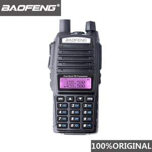 Image 1 - 100% Baofeng UV 82 لاسلكي تخاطب ثنائي النطاق هام راديو إنترفون UV82 اتجاهين راديو VHF UHF المحمولة الصيد Hf جهاز الإرسال والاستقبال الأشعة فوق البنفسجية 82