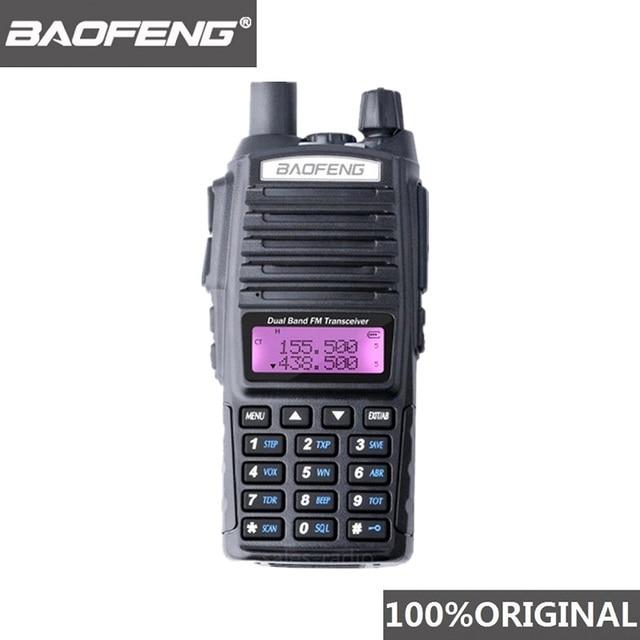 100% Baofeng UV 82 لاسلكي تخاطب ثنائي النطاق هام راديو إنترفون UV82 اتجاهين راديو VHF UHF المحمولة الصيد Hf جهاز الإرسال والاستقبال الأشعة فوق البنفسجية 82