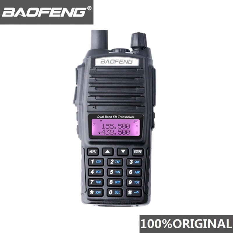 100% Baofeng UV-82 Walkie Talkie Dual Band Ham Radio Intercom UV82 Two Way Radio VHF UHF Portable Hunting Hf Transceiver UV 82