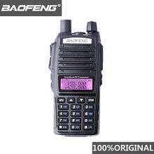 100% baofeng UV 82 walkie talkie dupla banda presunto intercom uv82 rádio em dois sentidos vhf uhf portátil caça hf transceptor uv 82