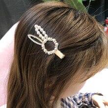 Korea Pearl Clip Women Girls Hair Clip Accessories Hair Clamp Claw Barrette Ornaments Hairgrip Headwear Hairpin Headdress